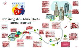 2017/2018 eTwinning Kalite Etiket Başvurusu