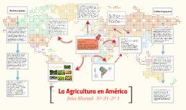 La Agricultura en América