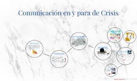 Comunicación en y para de Crisis
