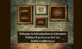 week 1 - introduction to literature