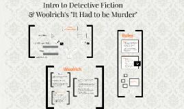 Intro to Detective Fiction