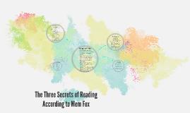 The Three Secrets of Reading