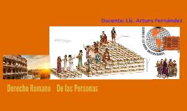 De las Personas en Derecho Romano