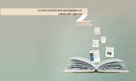 Copy of La intervención psicopedagógica en educación especial