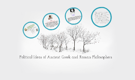 Political Ideas of Greek and Roman Philosophers