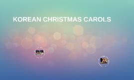 KOREAN CHRISTMAS CAROLS