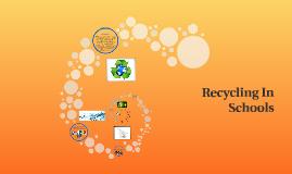 Recycling Program in Schools