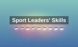Sport Leaders' Skills