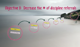 Objective 8:  Decrease the # of discipline referrals