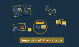 Copy of Suspension of Habeas Corpus