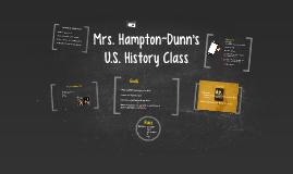 Mrs. Hampton-Dunn's