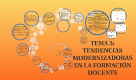 TEMA 3: TENDENCIAS MODERNIZADORAS EN LA FORMACIÓN DOCENTE