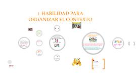 1. HABILIDAD PARA ORGANIZAR EL CONTEXTO