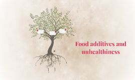 Food additives and unhealthiness