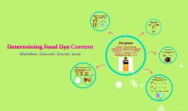 Food Dye Presentation