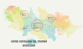 Copy of Boxer Rebellion vs. Taiping Rebellion
