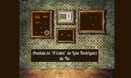 """Analisis de """"A Cuba"""" de Lola Rodriguez de Tio"""