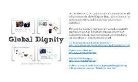 Global Dignity Day - Oct. 20th, 2011