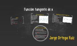 Función tangente de x