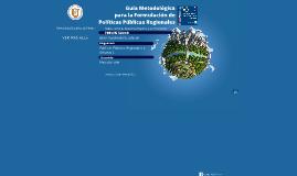 Guía Metodológica para la Formulación de Políticas Públicas Regionales