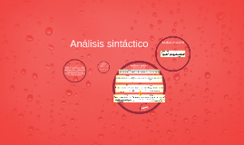 Análisis sintáctico (completo)