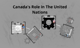Canada's Role in The United Nations
