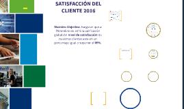 SATISFACCIÓN CLIENTE 2016