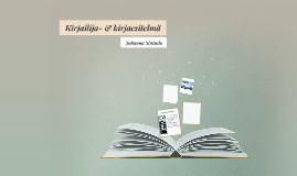 Kirjailija- & kirjaesitelmä