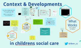 Contexts & Developments in Childrens Social Care