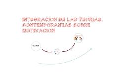 Integración de las teorías; contemporáneas sobre motivación