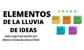 Plantilla - Elementos de Lluvia de Ideas de isabel Sánchez