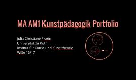 MA AM1 Kunstpädagogik Portfolio