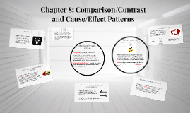 Chapter 8: Comparison/Contrast and Cause/Effect Patterns