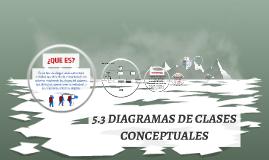 5.3 Diagramas de Clases Coceptuales