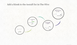 Add a Kiosk to the install list in The Hive