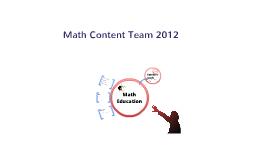 Math Content Team
