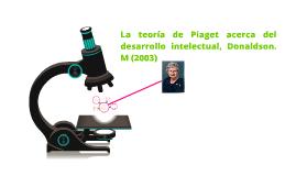 La teoría de Piaget acerca del desarrollo intelectual, Donal