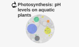 Photosynthesis: pH levels on aquatic plants
