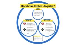 Backbone / Ember / Angular