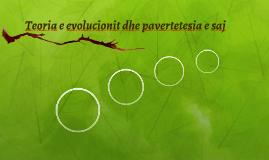 Teoria e evolucionit dhe pavertetesia e saj