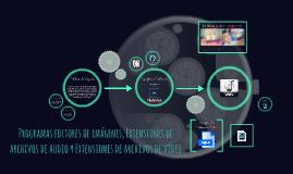 Copy of Programas editores de imagenes, Extensiones de archivos de a