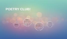 POETRY CLUB!