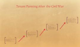 Tenant Farming After  the Civil War