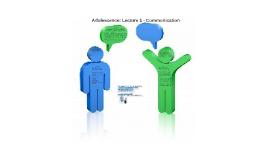 Adolescence: Lecture 1 - Communication