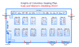 Knights of Columbus Seating Plan
