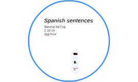 Spanish sentences