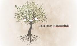 Relaciones Matematicás