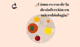 Desinfección en microbiología