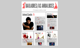 BAILAORES/AS ANDALUCES