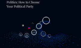 Politics: How to Choose Your Political Party